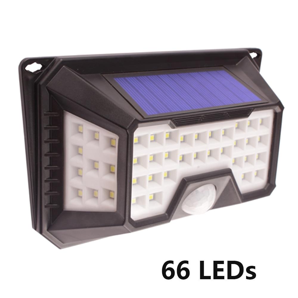 solar powered led spotlight outdoor garden decoration waterproof 66 LED flood light with motion sensor IP65 for floodlight light