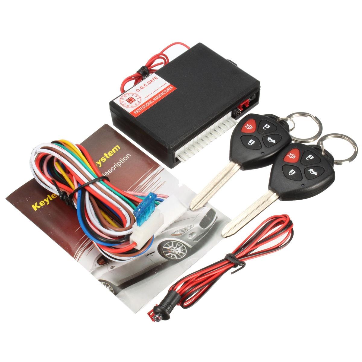 imágenes para Durable Negro 12 V Del Coche Del Vehículo de Alarma Antirrobo Sistema de alarma de Seguridad de Entrada Sin Llave de Bloqueo Para Toyota 2 Remoto