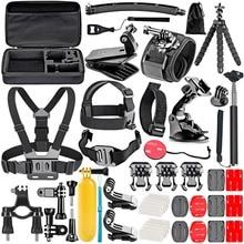 FOSOHALO 50-In-1 Action Camera Accessory Kit for GoPro Hero 1 2 3 3+4 5 6  SJCAM SJ4000/5000/6000 AKASO/DBPOWER Accessary Sets
