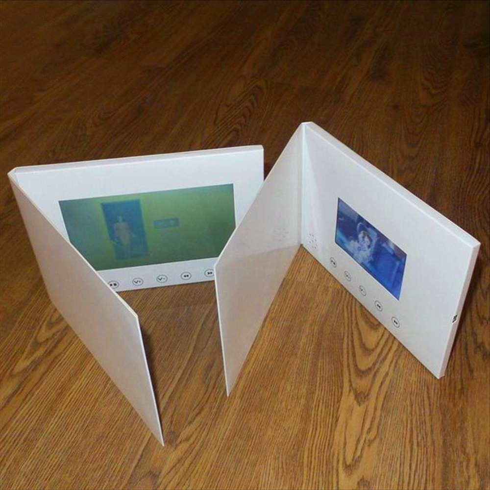 Mp4 Player Freies Verschiffen 7 Zoll Video Broschüre Hd Broschüre Universal Video Grußkarten Mode Design Video Werbung Karten Tragbares Audio & Video