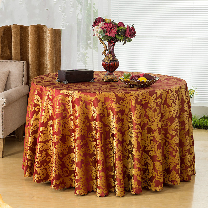 Fashion Modern Pattern Polyester Round Table Cloth Rectangular Tablecloth  Wedding Table Cloth Restaurant Table Cloth Z