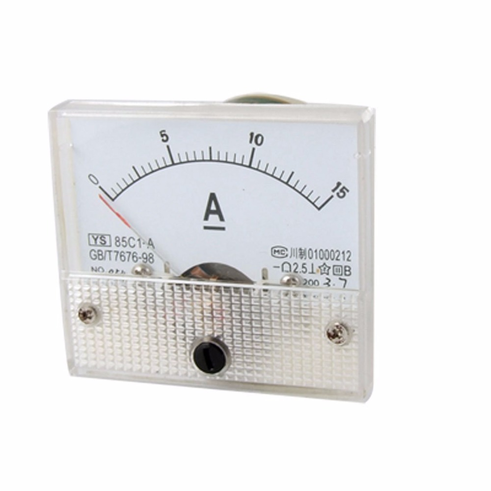 85C1 DC 0-15A Class 2.5 Accuracy Panel Mounted Analog Ammeter