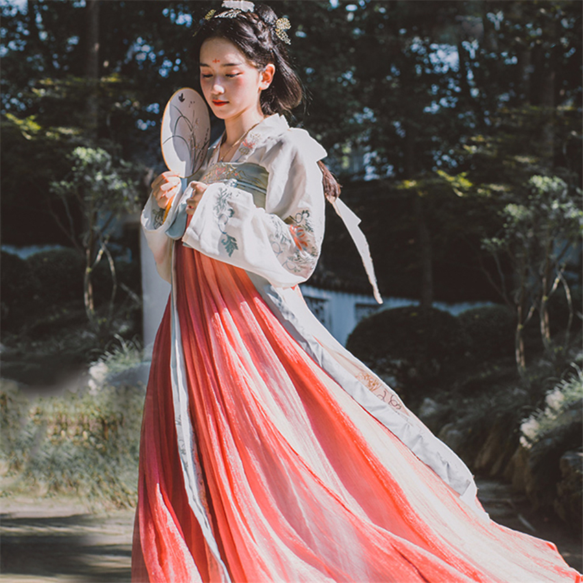 Traditional Chinese Clothing Women Hanfu Fairy Dress Ancient Han Dynasty Princess National Stage Folk Dance Festival Outfit