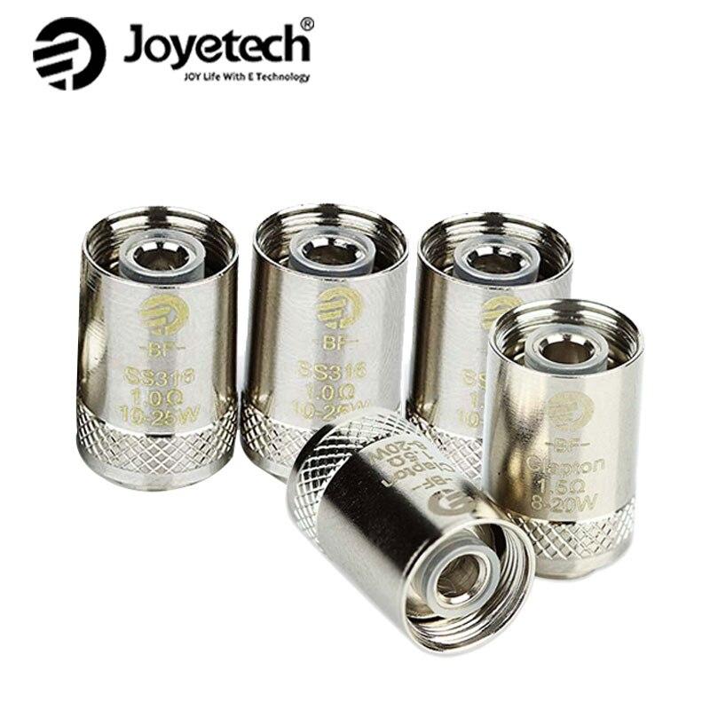 5 pz Originale Joyetech BF Bobina di Ricambio per CUBIS/eGO AIO/Cuboide BF Mini SS316 Bobina 0.5ohm/0.6ohm/1.0ohm/1.5ohm Teste