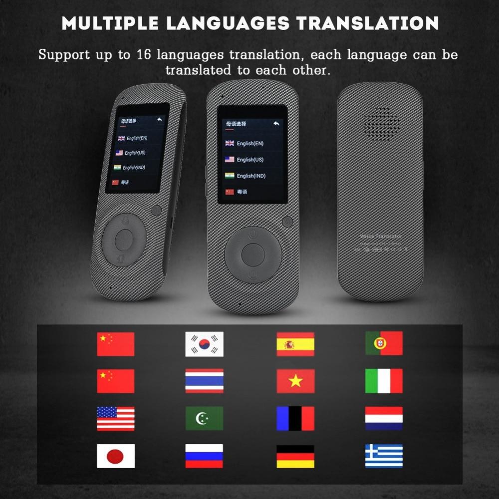 2,4 дюйм(ов) HIFI Портативный интеллектуальные реального времени WI-FI голос ПЕРЕВОДЧИК 16 Язык многоязычные путешествия переводчик