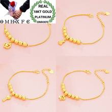 OMHXFC Wholesale European Fashion Woman Female Party Wedding Gift Lucky Beads Key Purse Pendant 18KT Gold Bracelets BE180(China)