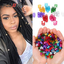 Wholesale Cheap 1000Pcs Mambo Beads For Braids Fashion Hair Charm Ring For Braids Box Braid Hair Accessories Dread Beads