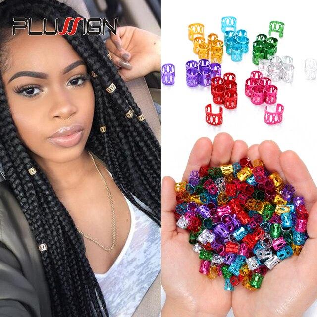 Wholesale Cheap 1000Pcs Mambo Beads For Braids Fashion Hair Charm Ring For Braids Box Braid Hair Accessories Dread Beads