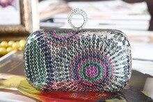 Damen Extravagante Clutch Mode Frauen Abendtasche Braut Hochzeit Dinner-Party Handtasche Kette Taschen Bolsas Mujer SMYCYX-E0073