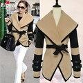 2016 весенние женщины дизайнер мода стиль звезд виктория бекхэм шерсть пальто женщины зиму ml XL XXL бесплатная доставка