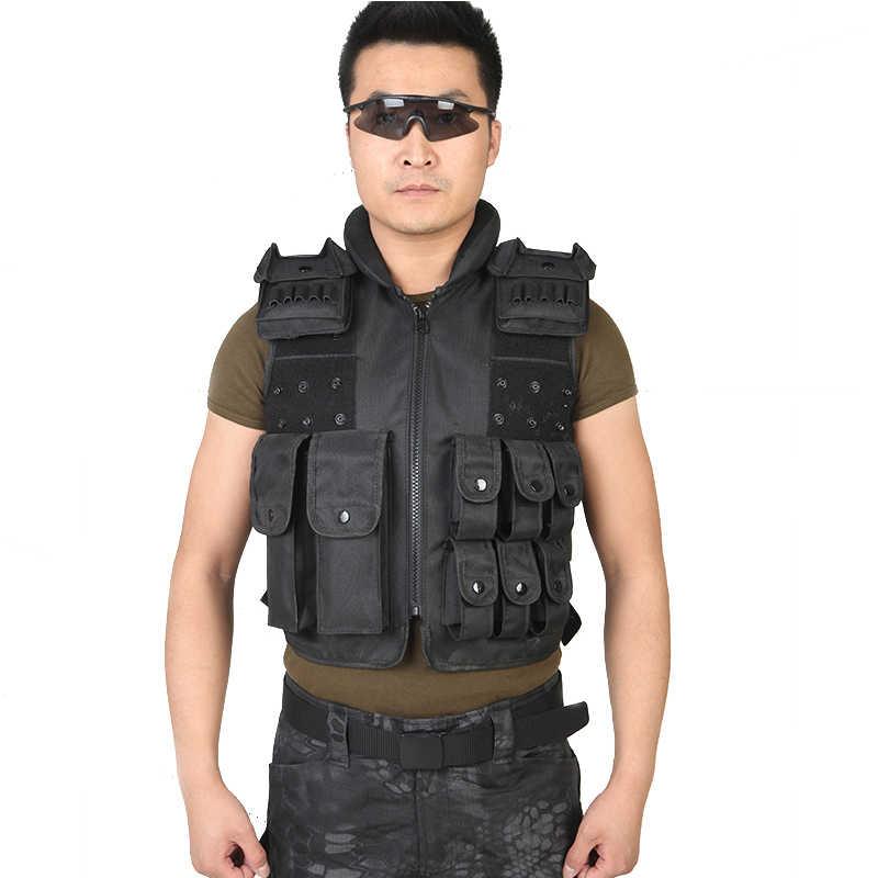 جيليه Tactique الرجال الجيش التكتيكية سترة في الهواء الطلق معدات الغابة سترات الصيد العسكرية درع SWAT سترة قتالية CS التدريب