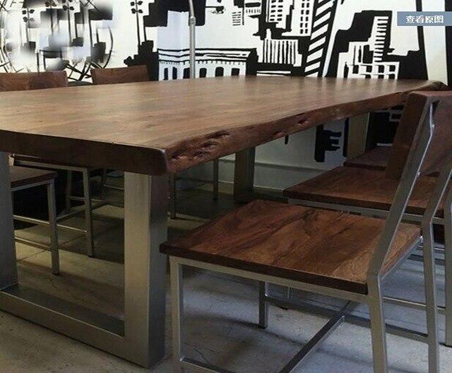 American retro barra de escritorio de mesa larga mesa de comedor de ...