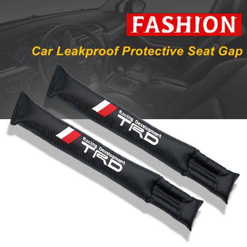 1PCS Carbon Fiber Leakproof Protective Seat Gap Car Cover Pad for Toyota corolla avensis yaris rav4 hilux auris camry prius