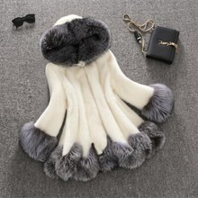 2019 new imitation mink coat, womens fur long and medium hat