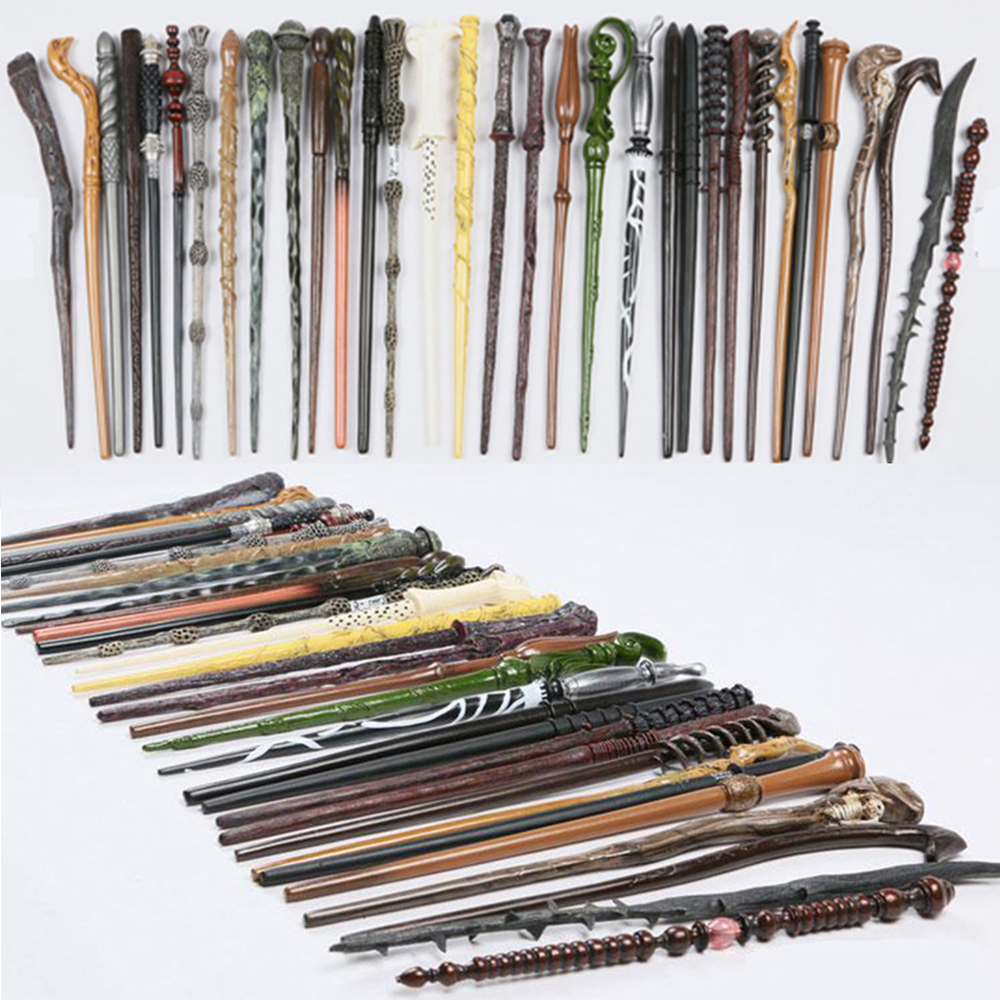 Harry Potter Magic Wand Deathly Hallows Hogwarts Gift HERMIONE Voldemort Malfoy Wand 19 KINDS With Box for harry potter cosplay