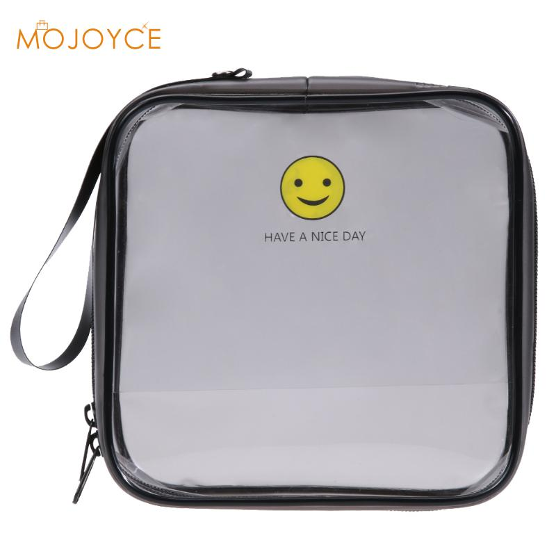 PVC Transparent Cosmetic Bags Women's travel Waterproof Clear Wash Organizer Pouch Beauty Makeup Case Accessories Supplies Bags mihawk color transparent pvc cosmetic bag korean style markup bags travel multifunctional accessories women s wash accessories