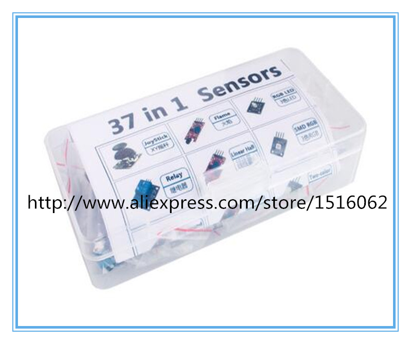 Free Shippiing37 in 1 box Sensor Kit For Arduino Starters brand in stock good quality low