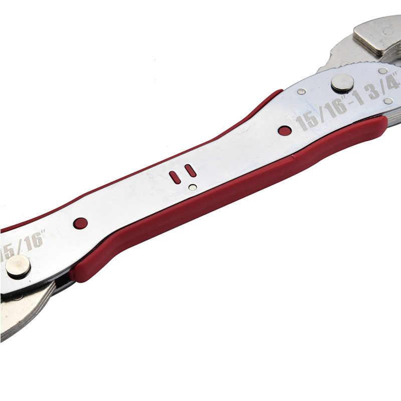 調整可能なマジックレンチ多機能目的スパナツール 9-45 ミリメートルユニバーサルレンチパイプ家庭用ハンドツールスナップグリップ