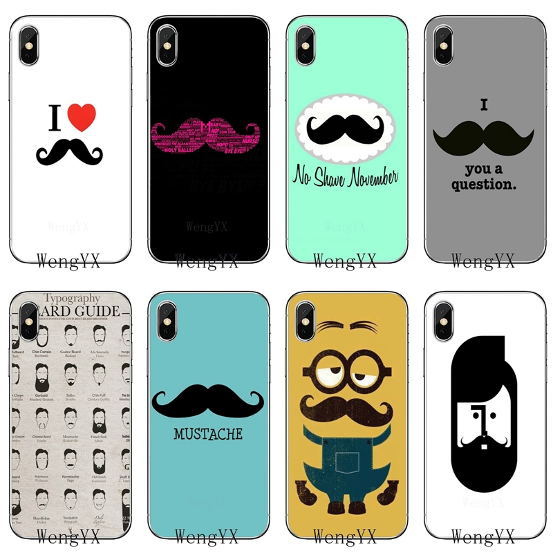 Phone-Cover-Case Samsung Galaxy Beard S7-Edge S9 Plus Note 3 Silicone For S3 S4 S5 S6