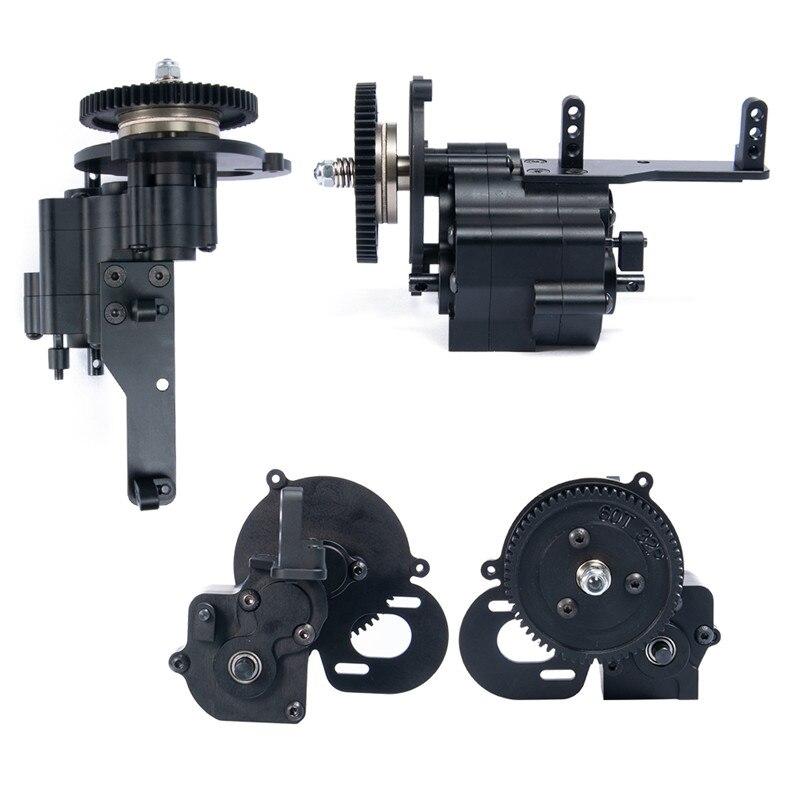 CNC en aluminium boîtier de transmission boite De Transfert Transmission À 2 Vitesses pour Wraith Axial 90048 1/10 RC Voiture Chenille