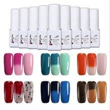 UV gel nail polish color changing UV LED Color Changing Mood Chameleon Gel Polishes for Nails 6 Colors 0.21 OZ (055-060)
