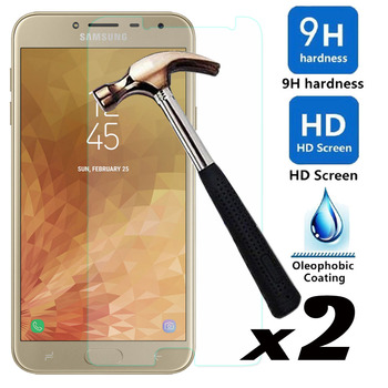 2psc/lot Tempered Glass Screen Protector Explosion-proof Bubble Free Front Films For Samsung Galaxy J4 2018 J400F J400 SM-J400F