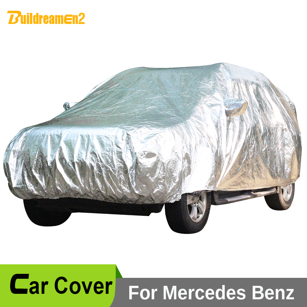 Buildreamen2 Full Car Covers Waterproof Sun Snow Rain Hail Resistant Cover For Mercedes-Benz GL350 GL450 GL500 GL550 GL320 GL420 left and right car rearview mirror light for mercedes benz w164 gl350 gl450 gl550 ml300 ml350 turn signal side mirror led lamp