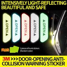 3 м авто открытия двери безопасные светоотражающие наклейки открытия двери предупреждение предотвращения столкновений крючок и установка АВТО тела украшения творческий aut