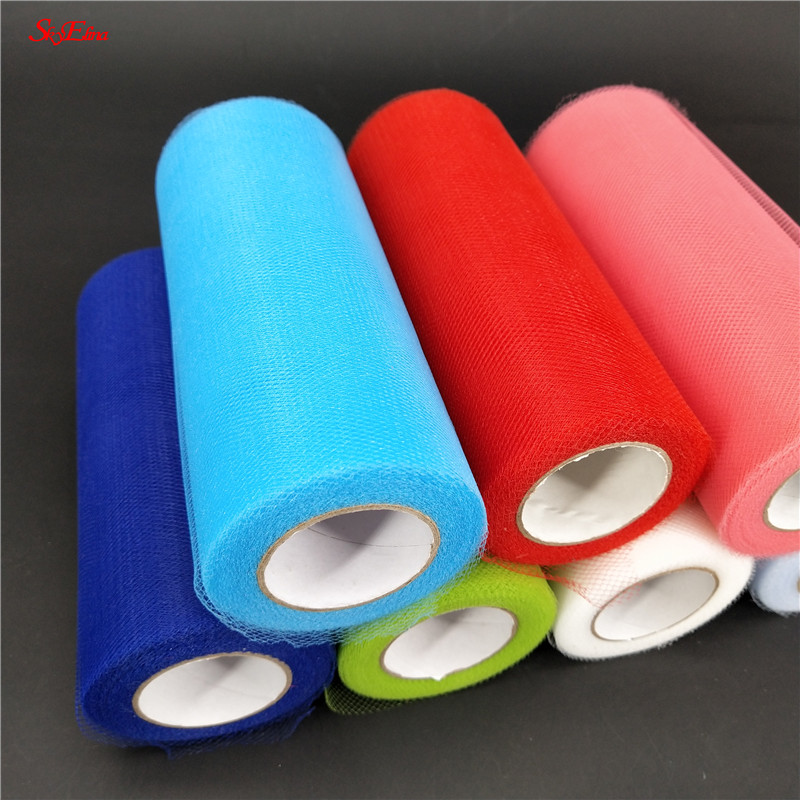 15cm*22m Tulle Roll Spool Tutu Wedding Decoration Baby Shower Organza Gauze Element Birthday Party Supplies 5zsh759 Arts,crafts & Sewing