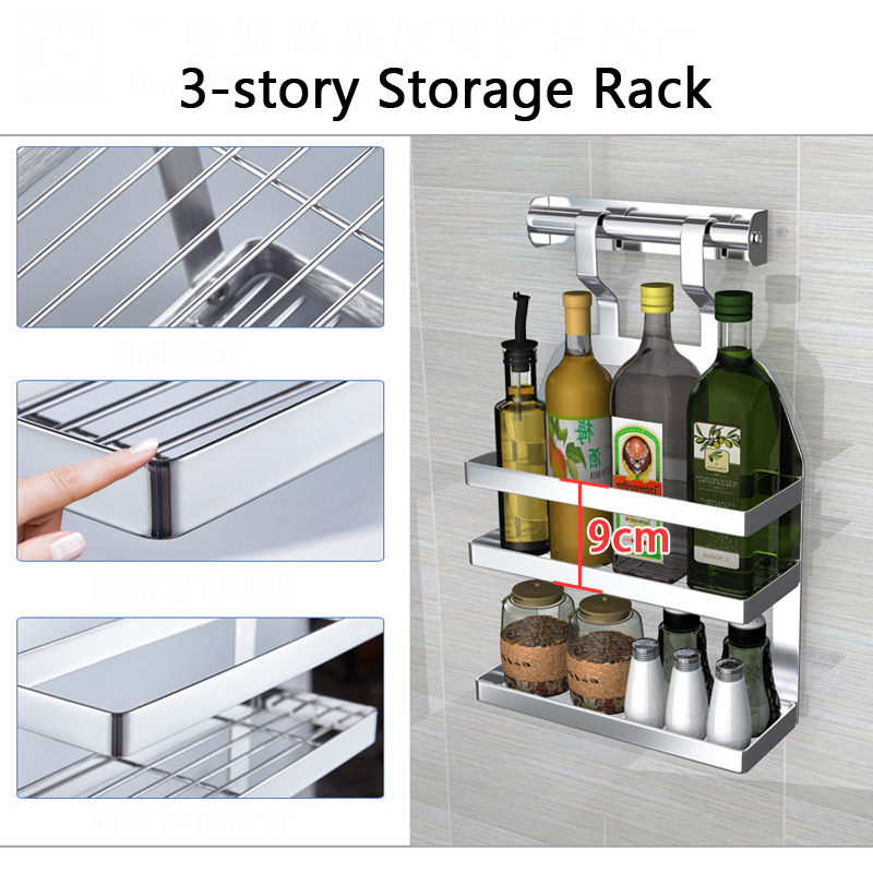 Kitchen Organization Tools: DIY Kitchen Rack Stainless Steel Kitchen Shelf Dish Racks