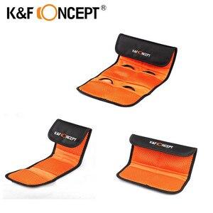 K&F CONCEPT Lens Filter Wallet Case 3/4/6 Pockets Bag for 49mm 52mm 55mm 58mm 62mm 67mm 72mm 77mm UV CPL FLD filter Holder Pouch