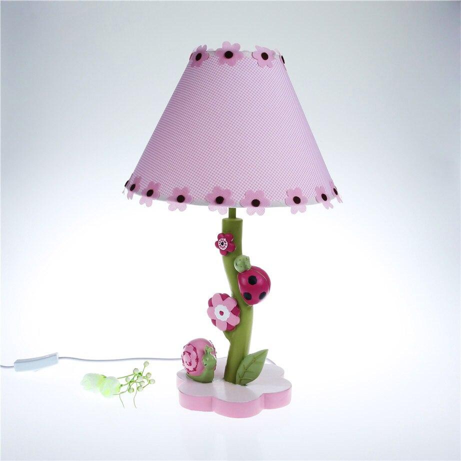 Детская спальня ночники теплый Настольные лампы творческий мультфильм для милых девочек украшение цветок Улитка lu807125