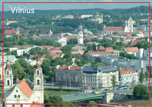 цена на Free Shipping 78*54mm,Lithuania's capita,Vilnius Magnet 20057 Tourist Memorabilia Gift