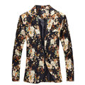 Fashion 2016 New Design Men Blazer Floral Suit Personality Casual Blazer For Men Blazer Slim Fit Jacket Men TOPS COAT MB028