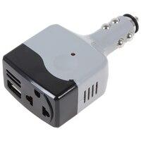Dc 12/24 V Naar Ac 220 V/Usb 6V Car Mobile Power Inverter Adapter Auto power Converter Charger|car lighter usb charger|charger applecar charger splitter -
