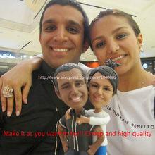Fantasia personalizado 18cm figuras argila feito à mão real-homem feito sob encomenda bolo de casamento boneca de aniversário do bebê presente de natal dos namorados