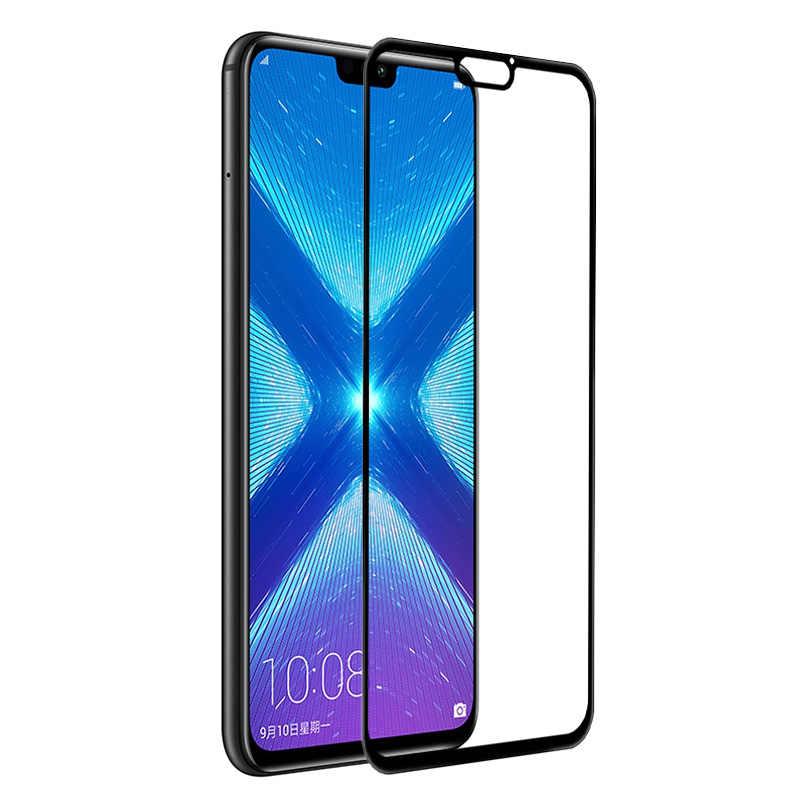 كامل غطاء الزجاج المقسى لهواوي الشرف 8X الهاتف الذكي 6.5 بوصة شاشة 64/128 GB 4/6 GB حامي Honor8X فيلم واضح حالة