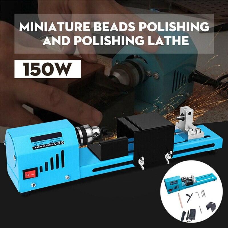 Mini bricolage 150W tour à bois perle Machine de découpe perceuse polissage travail du bois outil de fraisage