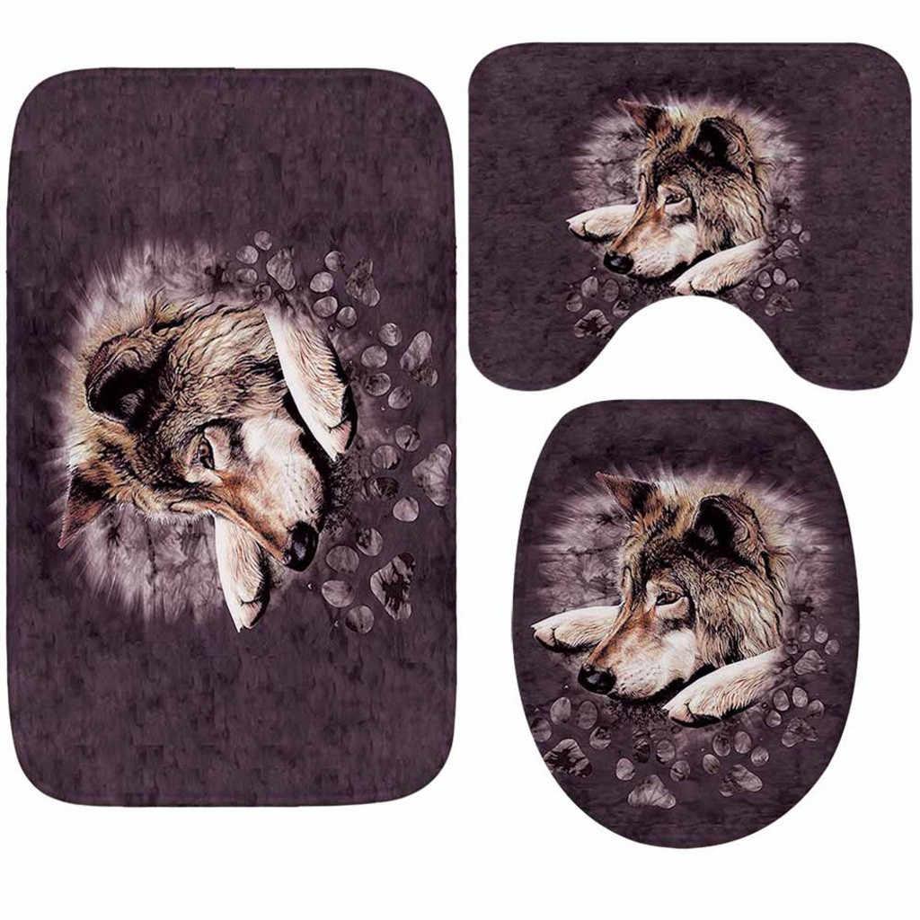 Креативный 3d принт коврик на пол в ванной трехсекционный водопоглощающий нескользящий фланелевый пол коврики горячая Распродажа дверной коврик tapis de cuisine