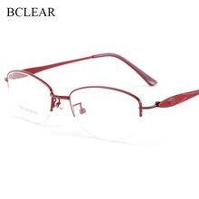 BCLEAR 2019 New Designer Woman Glasses Optical Frames Metal Alloy Frame Eyewear Pink Red Purple Gold Silver Eye