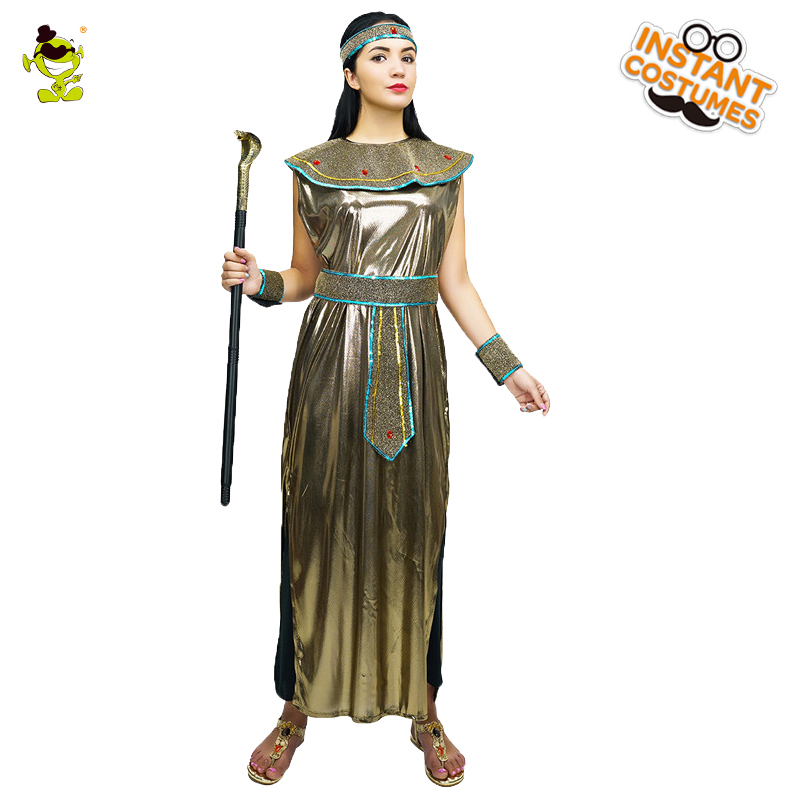 newest collection 7eeb6 23d6f Charming Cleopatra Adult Ladies Fancy Dress Costume Ancient Eqyptian Queen  Nile