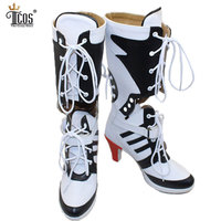 Harley Quinn Shoes Suicide Squad Cosplay Costume Women Party Boots