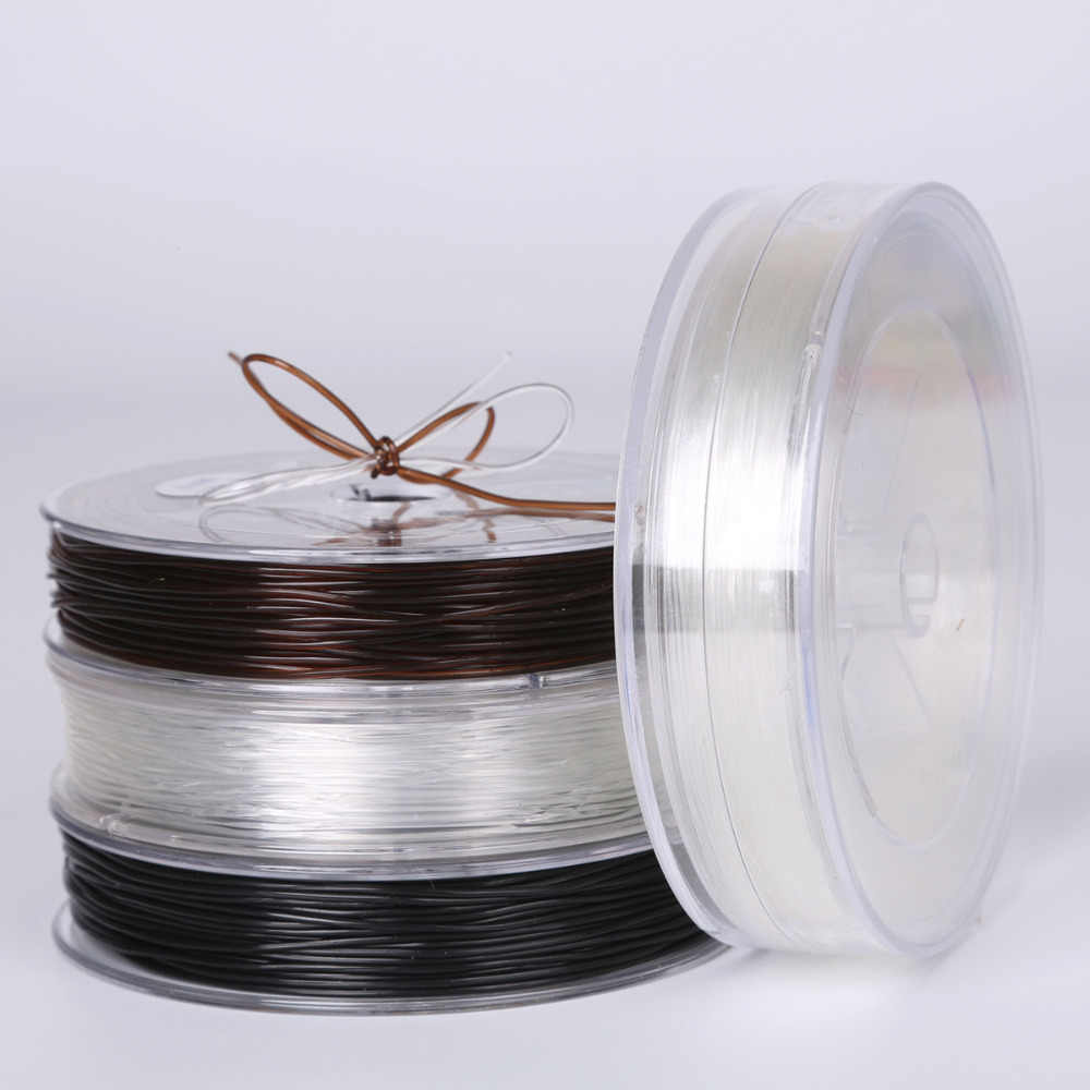 0.5-1.0mm DIY Crystal Beading Stretch Cord Elastic Line Transparent Clear Round Beading Wire/Cord/String/Thread Jewelry Making
