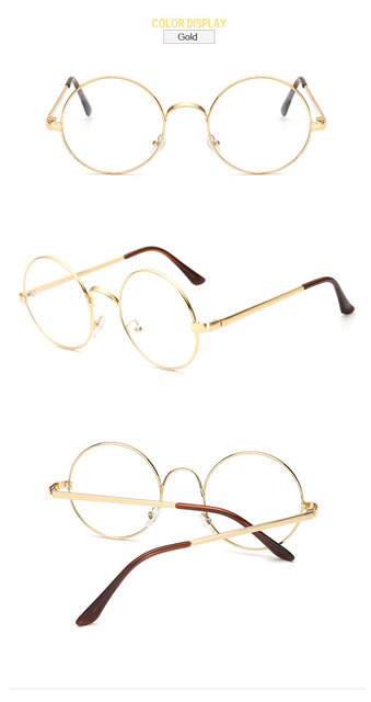 5e54ff14d428 Round Spectacle Glasses Frames Glasses With Clear Glass Optical Frame  Transparent Glasses Women Frame For Harry Potter F001