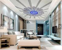 Free Shipping A Large Mural Custom Wallpaper Symmetrical Floral Pattern Hotel Bedroom Living Room Roof Ceiling