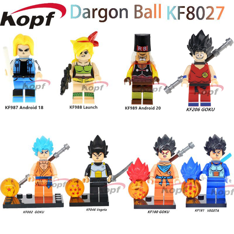 KF8027 Super Heroes Dragon Ball Z Figures Goku Perfect Cell Launch Android 20 font b Building