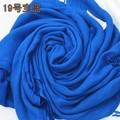 Top Fashion Blue Female Polyester Cape Shawl Fringe Long Large Pashmina Solid Color Muffler Free Shipping Size 180 x 69 cm