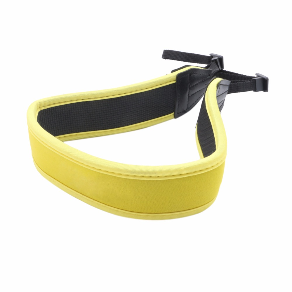 OOTDTY New High Elastic Belt Neoprene Shoulder Neck Strap for Nikon Camera Yellow