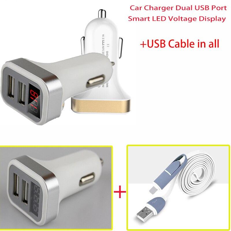 Sinairyu автомобиля Зарядное устройство Dual <font><b>USB</b></font> Порты и разъёмы Smart LED Напряжение Дисплей мобильный телефон Универсальный <font><b>USB</b></font> Автомобильное Зарядн&#8230;