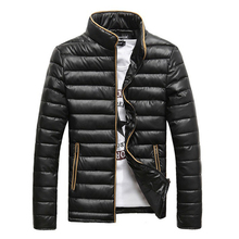 купить Autumn Winter Men Coat 2019 New Design Men Fashion Parka Coat Stand Collar Warm Jacket 4 Solid Colors Asian Size по цене 1922.02 рублей